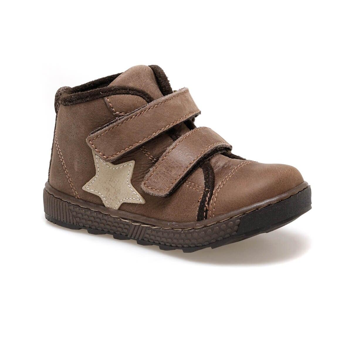 FLO 2428 D4 Brown Male Child Boots Kifidis