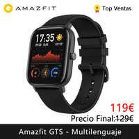 Amazfit GTS smart watch(reloj inteligente mujer hombre GPS bluetooth deporte exterior android IOS reloj xiaomi)[Versión Global]