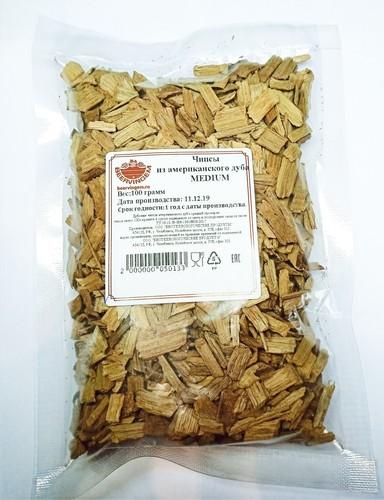 Chips Of American Oak Medium 100g