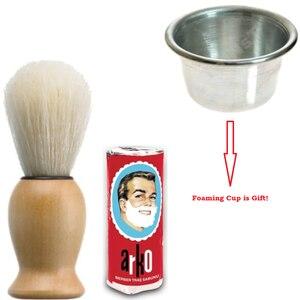 Hombre Arko, afeitadora de jabón, cepillo de espuma, taza hecha en Turquía, envío rápido