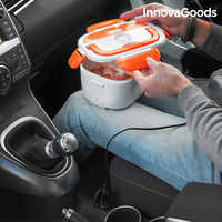 InnovaGoods Electric Lunch Box for Cars 40W 12 V White Orange