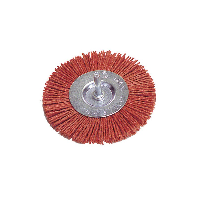 Nylon Brush Disc 100mm. 1/4