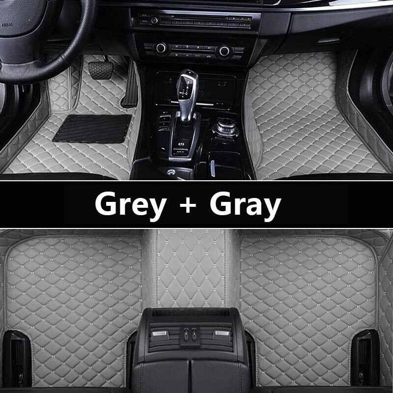 AUTOROWN Leather Floor Mat For Hyundai Santa Fe II 2005-2015 Waterproof 3D Auto Floor Mats Interior Acessories PU Custom 9 Color