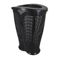 Laundry Basket Ingrid Tontarelli 30 L Plastic Black (36 X 29,4 x 50,5 cm)
