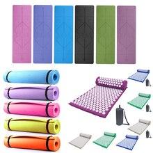 Acupressure Massager Mat Set Head Neck Back Body Foot Cushion Massage Pad Relieve Stress Pain Spike Mat Yoga Mat with Pillow