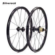 "SILVEROCK חיצוני 7 מהירות סגסוגת גלגל 16 ""1 3/8"" 349 שפת בלם 14/21H 16H 20H לברומפטון 3 שישים מתקפל אופני Custom זוג גלגלים"