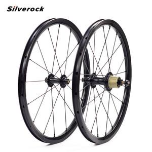 Image 1 - SILVEROCK, внешнее 7 скоростное колесо из сплава, 16 дюймов, 1 3/8 дюйма, 349 дюйма, ободной тормоз, 14/21H, 16H, 20H для Бромптона, 3, 60, складной велосипед, колесная пара на заказ