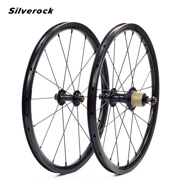 SILVEROCK, внешнее 7 скоростное колесо из сплава, 16 дюймов, 1 3/8 дюйма, 349 дюйма, ободной тормоз, 14/21H, 16H, 20H для Бромптона, 3, 60, складной велосипед, колесная пара на заказ