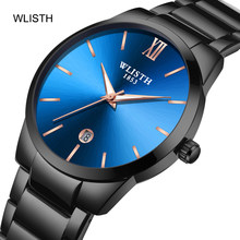 WLISTH Men's Ultra-Thin Business Quartz Watch Simple Scale Dial Stylish Atmosphere Luminous Waterproof watches Relogio Masculino(China)