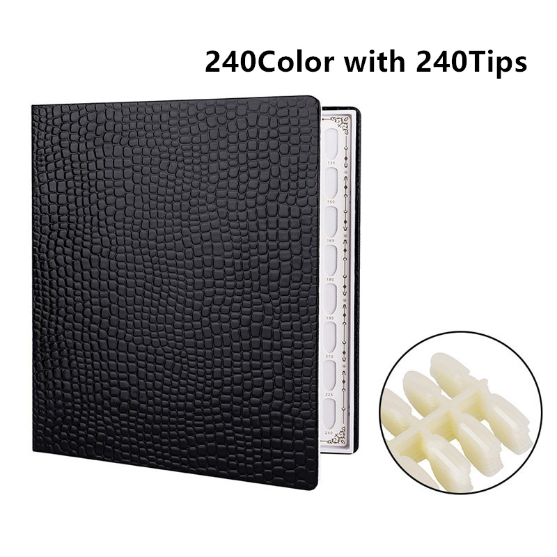 High-end PU Leather Display Book For Nail Art Color Chart Display Card UV Gel Manicure Practice Show Case Palette Varnish Polish