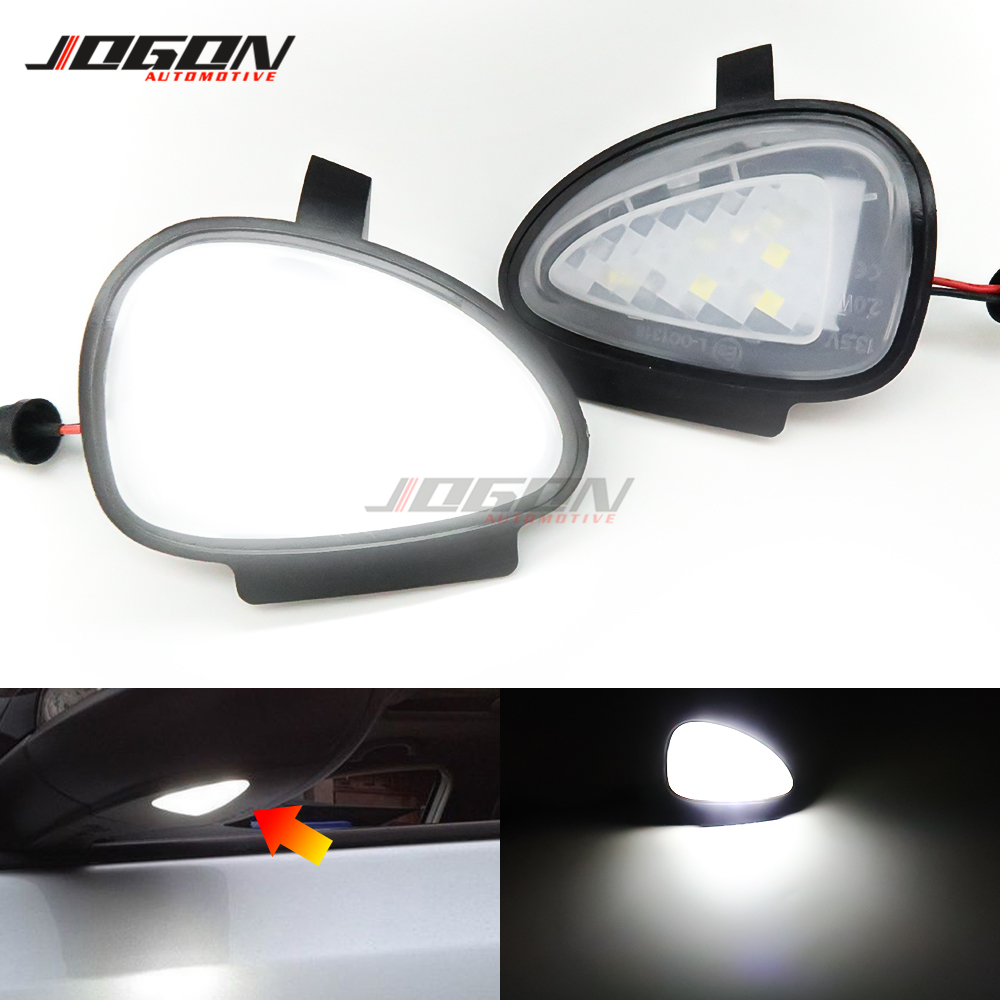 For Volkswagen VW <font><b>GOLF</b></font> 6 MK6 GTI R32 2008-2014 Touran <font><b>LED</b></font> Side Mirror Rearview Puddle Light Welcome Courtesy Lamp <font><b>Trim</b></font> image