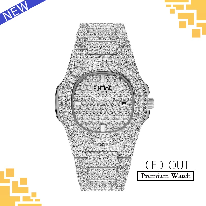 Luxury Design Iced Out Watch Men Wom