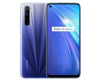 Купить Смартфон Realme 6 (4 + 128 ГБ), синий смартфон, мобильная телефония