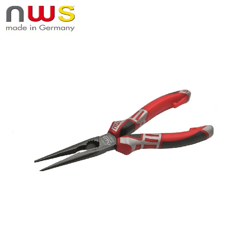 NWS Long nose pliers 170 mm straight, TitanFinish coated, SoftGripp 3K handles Long nose Pliers Press Tool Multi tool Forceps fashion long layered capless elegant straight tail adduction synthetic adiors wig for women