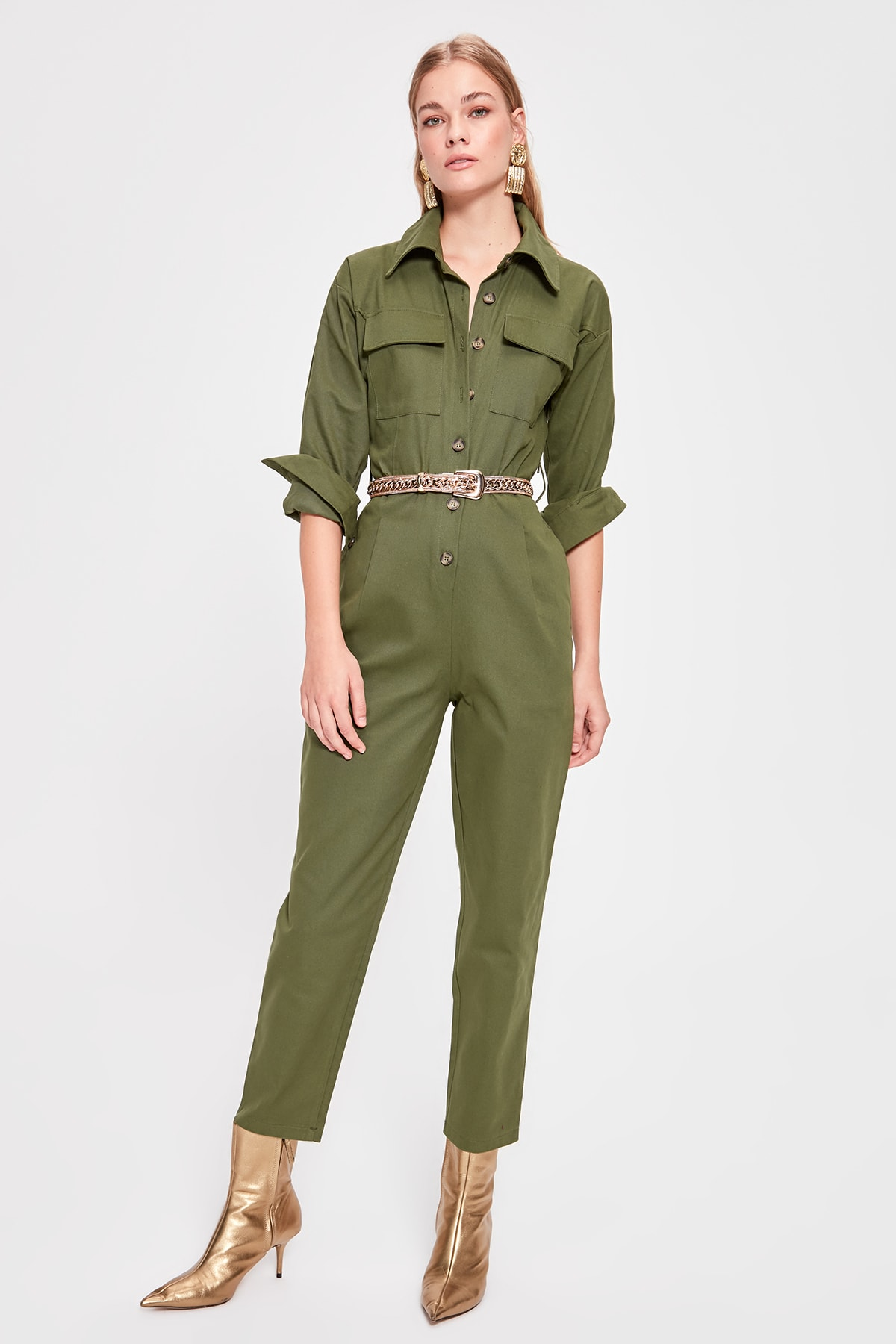 Trendyol Belted Jumpsuit TWOAW20TU0065