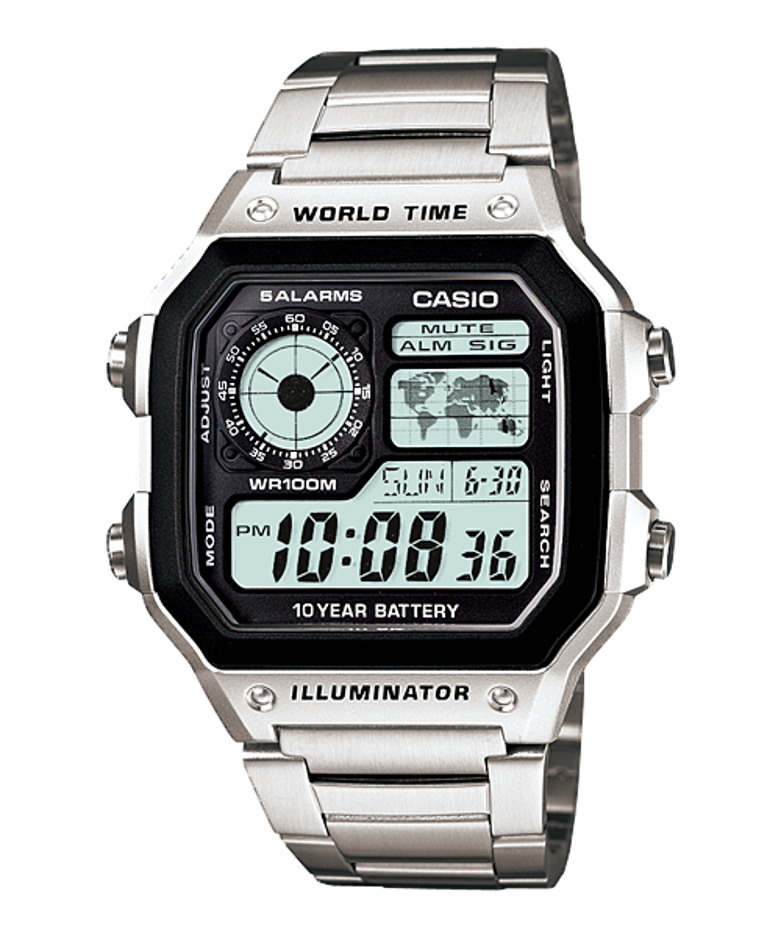 Casio Watch Men Set Brand Luxury LED Military Digital Watch Sport Waterproof Quartz Men Watch AE-1200WHD