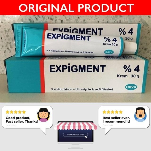Expigment 30g 1oz Hydroquinone 4% Cream For Skin Bleaching Skin Lightening Whitening Skin Melasma Treatment - 4 pack 3