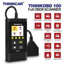 Thinkcar thinkobd100 diy obd2 leitor de código scanner obd 2 completa carro scanner diagnóstico desligar a luz do motor obdii ferramentas automotivas