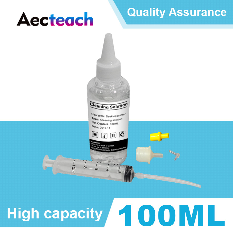 Aecteach Printerhead Cleaning Fluid Wash Liquid for Epson for Canon for Brother for hp Printer Head Ink Cartridge Dye Ink