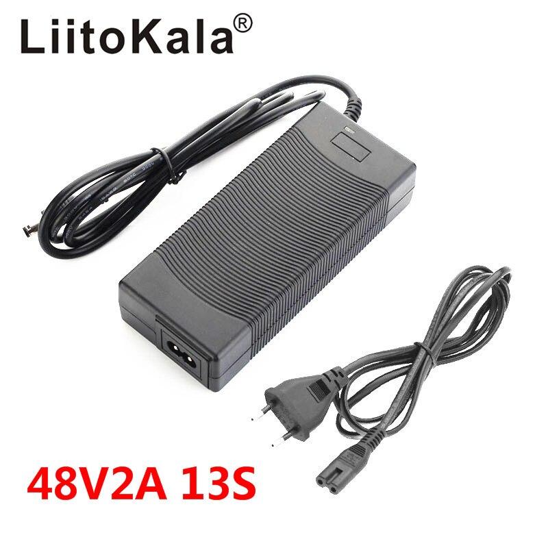 Liitokala 48 v 2a carregador 13 s 18650 bateria carregador 54.6v 2a corrente constante pressão constante é cheia de auto-parar