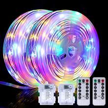 Luces LED de cuerda para decoración navideña, guirnalda de luces de hadas, lámpara de jardín, luz nocturna al aire libre para vacaciones, 15m, 150LED