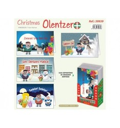 GREETING CHRISTMAS ARGUVAL OLENTZERO ASSORTED MODELS 48 Pcs