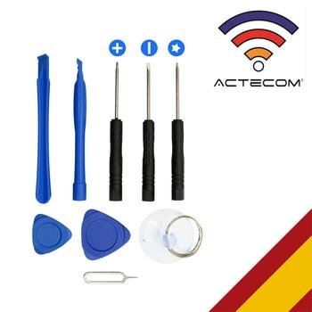 ACTECOM Kit Herramientas REPARACION MOVIL Consola Tablet 11 EN 1 PLASTICO Pack Smartphone Tool LCD Pantalla