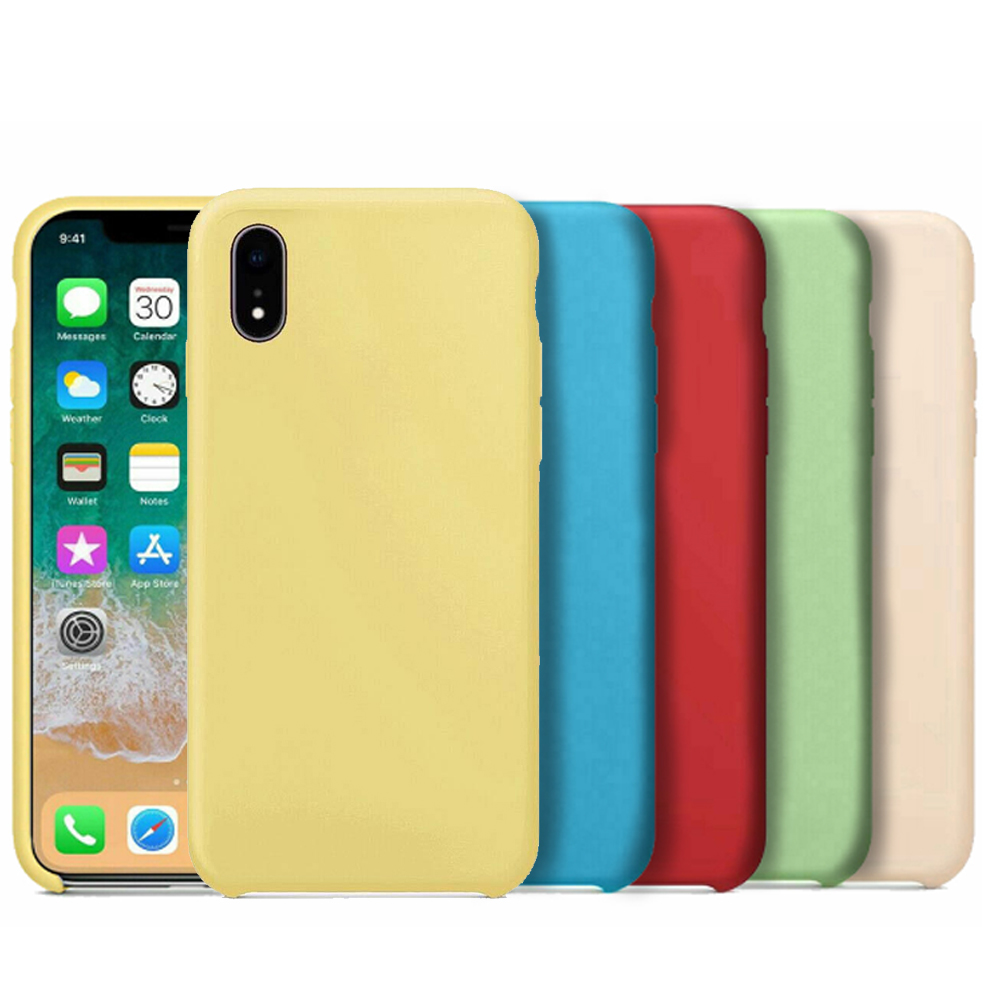 Apple iPhone case XR X XS iPhone XS Max with original official logo soft silicone shock protection and scratches