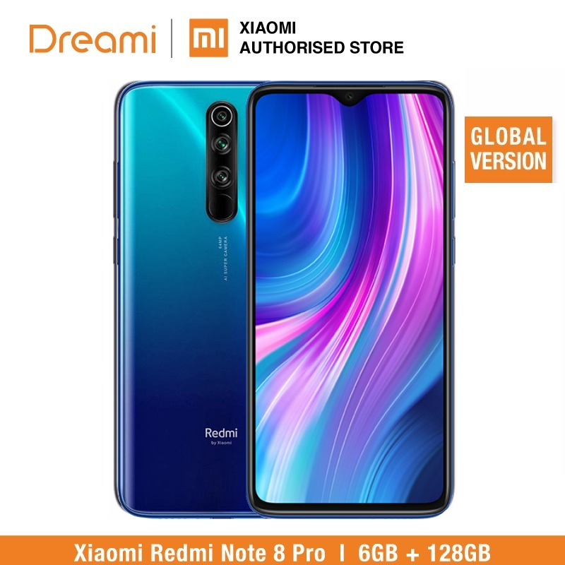 Global Version Xiaomi Redmi Note 8 PRO 128GB ROM 6GB RAM (LATEST ARRIVAL!!), Note8 Pro