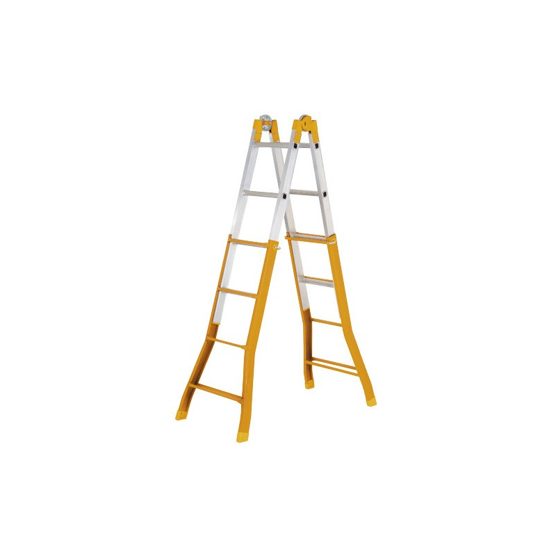Telescopic Ladder Mixed Wolfpack 4 + 4 Steps