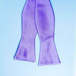 Men's self-tie bow tie (polyester, purple) 50701