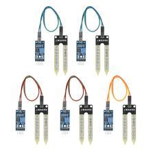 5 шт. гигрометр влажности почвы датчик обнаружения влажности Модуль автоматическая система полива с индикатором питания для Arduino