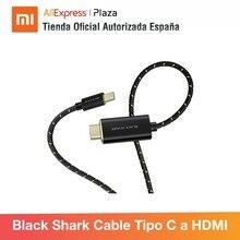 Schwarz Shark Typ-C zu HDMI Kabel