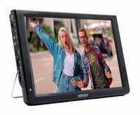 Tv de carro eplutus EP-124T funciona formato transmissão digital DVB-T2 bateria embutida, 12,1 polegada. 1440*1080