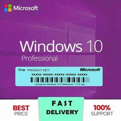 Windows 10 Pro Key 64/32 Bit All Languages 
