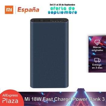 Original Xiaomi Mi bateria externa Power Bank 3 10000mAh 18W Carga rápida USB-C Dual USB Powerbank Cargador para computadora portátil Smartphone