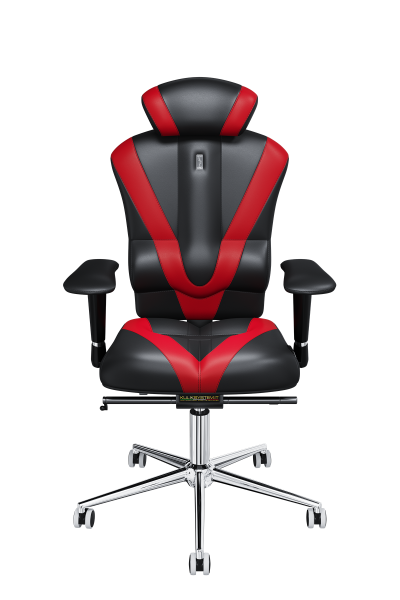 Office Chair KULIK SYSTEM VICTORY Black + Red Computer Relief And Comfort For The Back 5 Zones Control Spine