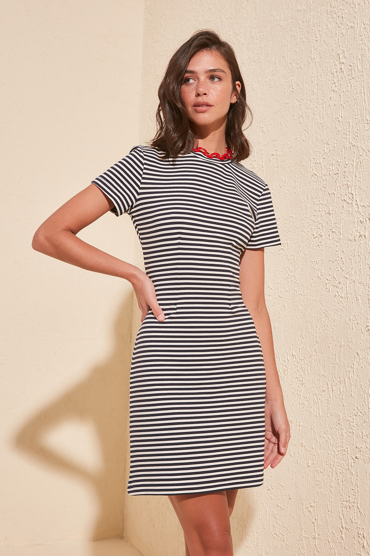 Trendyol Striped Knit Dress TWOSS20EL1294