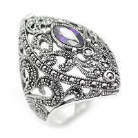 100% 925 Sterling Silver Ring Turkish Jewelry 2020 Fashion Women Rings Female Jewelry Rings For Womens Anillo Bijoux Made Turke