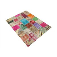 Jungle Patchwork Decorative Modern Carpet 100X140 Cm