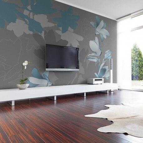 Photo Wallpaper-Magnolias Blue