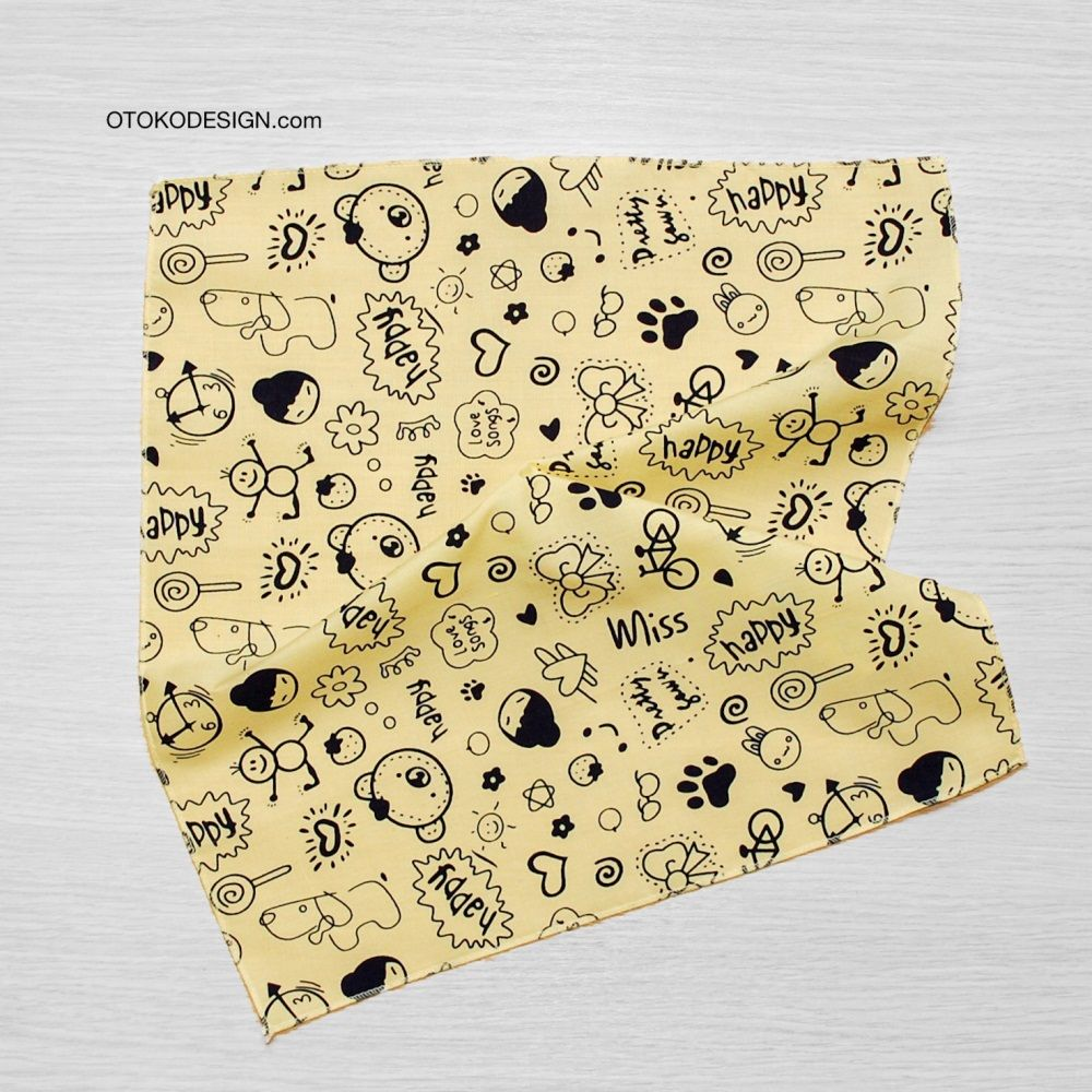 Pocket Square In Jacket Pocket Yellow Happy (51833)