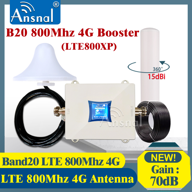 New!! Europe 4G B20 800Mhz Cellphone Cellular Repeater 4G LTE 800Mhz 4G Cellular Network Amplifier 4G Mobile Signal Booster