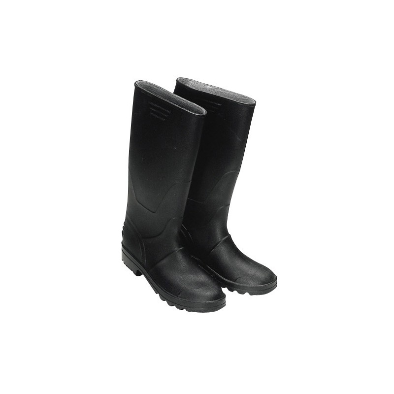 Rubber Boots Black High NO. 44 (Pair)