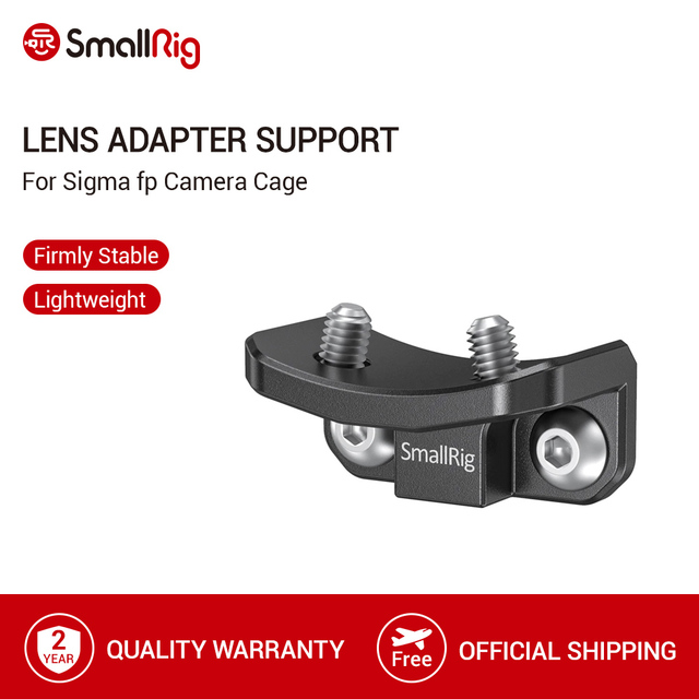 SmallRig for Sigma fp Camera Cage Lens Adapter Support For SIGMA MC 21(EF L)/MC 21(SA L) Mount Lens Protective Adapter   2650