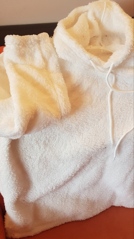 Women Long Sleeve Plush Hoodies Lady Autumn Winter Warm Solid Fluffy Hoody Flannel Pullover Pajama Loose Hooded Sweatshirts Top photo review