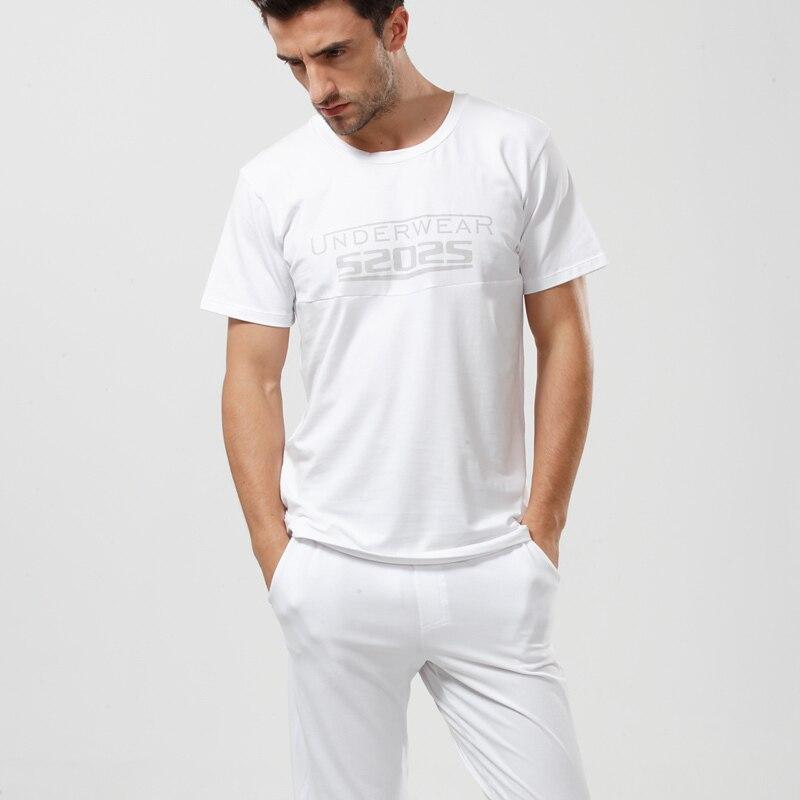 52025 Men Pajama Set Soft Cotton Modal Sleepwear Long Pants Comfortable Loungewear Pajamas Men Pyjama Set Home Clothes Nightwear