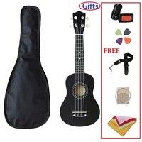 Сопрано гитара 4 струны Гавайская гитара гавайская гитара 21 дюймов деревянный Uke музыкальный инструмент с тюнером для начинающих подарок дл...
