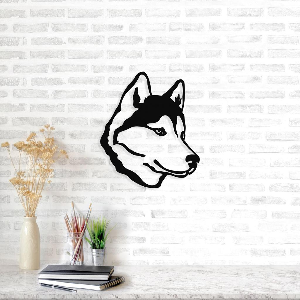 Hachiko Decorative Metal Wall Accessory Iron Sculpture Ornament Home Room Wall Hanging Decoration Art 2019 Official