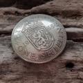 Кончо Шилинг КМ19. Диаметр 23мм. Кончо из настоящей монеты. На винте